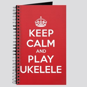 Keep Calm Play Ukelele Journal